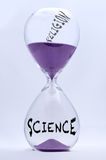 Sciene i religii Hourglass Obrazy Stock