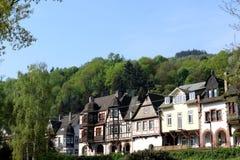 Scienic-Ansicht an den historischen Fachwerkhäusern stockbilder