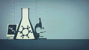 Sciense abstrakt begreppbakgrund stock illustrationer