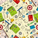 Sciense and education seamless pattern Royalty Free Stock Photography