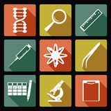 Sciense icons Royalty Free Stock Photography