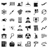 Scientific approach icons set, simple style. Scientific approach icons set. Simple set of 36 scientific approach vector icons for web isolated on white Stock Photo
