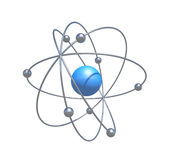 Scientific atom particle Stock Photography