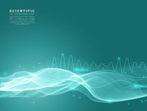 Scientific background with blue wave Stock Images