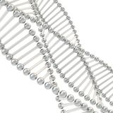 Scientific background made of chrome DNA chains Stock Photos