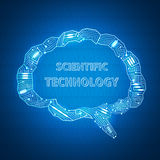 Scientific background Royalty Free Stock Images