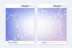 Scientific brochure design template. Vector flyer layout, Molecular structure  Stock Photo