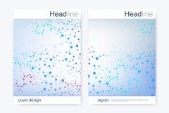 Scientific brochure design template. Vector flyer layout, Molecular structure  Stock Photography