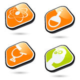Scientific buttons Stock Images