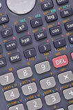 Scientific calculator. Very closeup - scientific calculator on white Stock Images