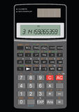 Scientific calculator. Displaying Pi fully layered Stock Illustration