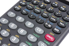 Scientific calculator. New scientific calculator isolated on white background with clipping path Stock Images