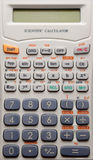 Scientific calculator background Royalty Free Stock Photos