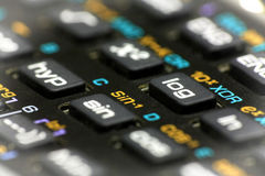 Scientific calculator buttons close up Stock Image