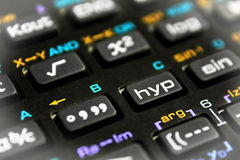 Scientific calculator buttons close up Royalty Free Stock Photography