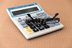 Scientific Calculator with glasses Royalty Free Stock Images