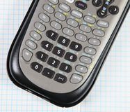 Scientific calculator in a graph paper Royalty Free Stock Photography