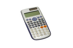 Scientific calculator isolated with clipping path Stock Image