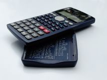Scientific calculator isolated stock image