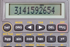 Scientific calculator with mathematical functions Royalty Free Stock Photography