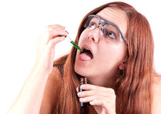Scientific Chemical Testing Stock Image