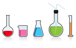 Scientific chemistry set. Royalty Free Stock Photography