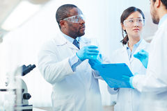 Scientific discussion Royalty Free Stock Photography