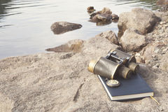 Scientific expedition stock photography