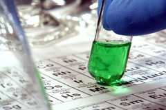 Scientific Experiment in Science Research Lab Royalty Free Stock Photos