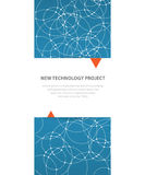Scientific Future Technology. For Business Presentation. Flyer, Stock Image