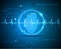 Scientific heart Royalty Free Stock Photo
