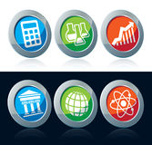Scientific icons Royalty Free Stock Photo