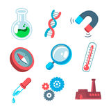 Scientific icons Royalty Free Stock Images