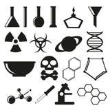 Scientific icons Stock Photo