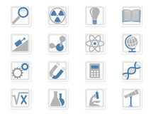 Scientific icons set. Symbols Royalty Free Stock Photos