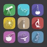 Scientific Icons Stock Image