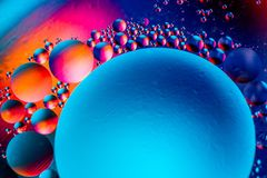 Scientific image of cell membrane. Macro up of liquid substances. Abstract molecule atom structure. Water bubbles. Macro shot of. Air or molecule. Biology royalty free stock photos
