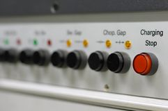 Scientific instrument control buttons Stock Photography