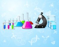 Scientific laboratory background Royalty Free Stock Photo