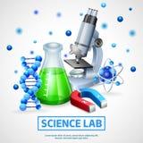 Scientific Laboratory Design Concept Royalty Free Stock Photography