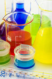 Scientific laboratory glassware Royalty Free Stock Image