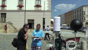 OLOMOUC, CZECH REPUBLIC, AUGUST 2, 2018: Scientific measurement of meteorological parameters on a mobile weather