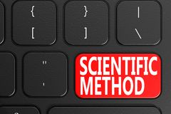 Scientific Method on black keyboard. 3D rendering Stock Photos