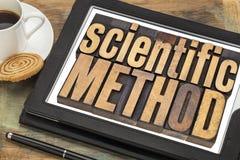 Scientific method on digital tablet Stock Image