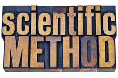 Scientific method wood typography Royalty Free Stock Photos