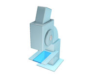 Scientific microscope  on white background. Stock Images