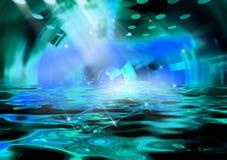 Scientific ocean. Photoshop design work Royalty Free Illustration