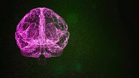 The universe within an abstract brain mockup floating in space.