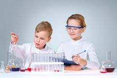 Scientific project Royalty Free Stock Image