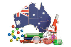 Scientific research in Australia concept, 3D rendering Royalty Free Stock Photos